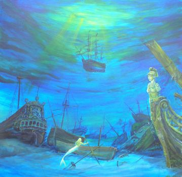 Ships Graveyard painting by dashinvaine