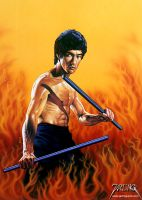 Bruce Lee 1 by jarling-art