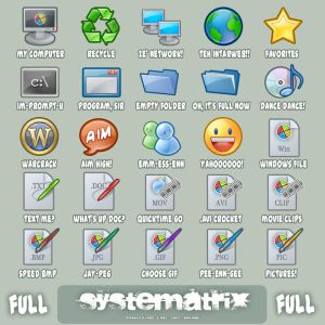Icons  Systematrix Full by royalflushxx Iconos para Windows XP