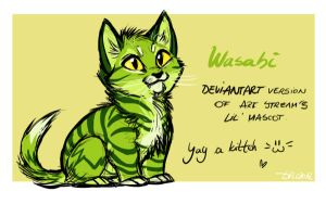 Wasabi the lil' kitten! by SilverDeni