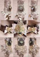 Steampunk Princess accessories by Pinkabsinthe