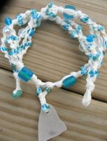 sea glass hemp necklace by HempLady4u
