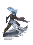 Drow Warrior by niaryusuke