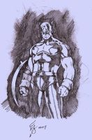 captain america by g0b1in