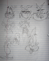 Cruddy Grinch Sketches by Lotusbandicoot
