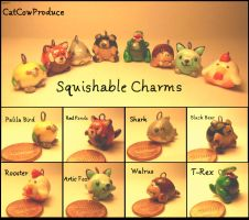 Squishable Charms by CatCowProduce