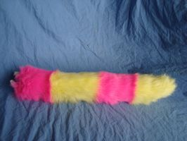 pink and yellow fluro tail by MonstrositiesNZ
