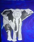 Elephant Duotone by Snowflake-in-July