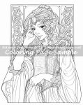 Art of Meadowhaven Coloring Page: Princess by Saimain