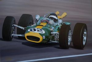 jim Clark at Indy 500 1965 by huckerback6