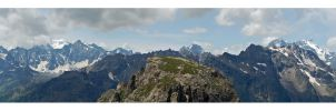 Ecrins Panorama by gastonnerie