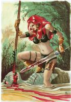 Red-Sonja by Philippe-Bringel