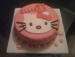 Hello Kitty Cake by SquishyPurpleCupcake
