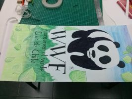 A WWF banner done in class by JuacoProductionsArts