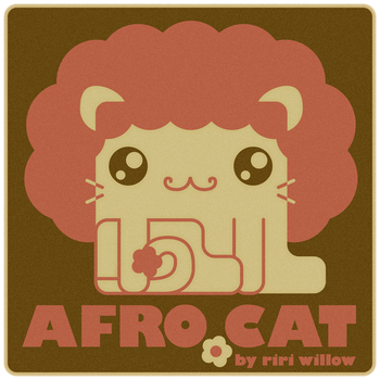 Afro Cat by RiRiWillow