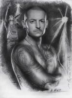 Chester Bennington by Natamur