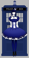 Doctor who - TARDIS lolita dress by KlodwigLichtherz
