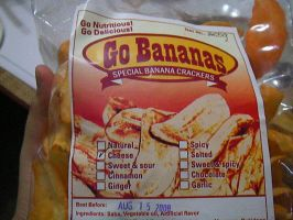 Cheese flavored banana chips?? by Sanguijuela