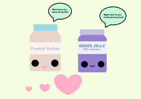 Kawaii Peanut Butter and Jelly Love by KawaiiBow100