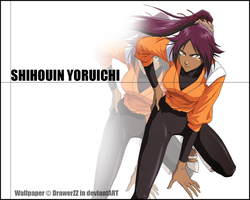 Yoruichi Wallpaper by DrawerZZ