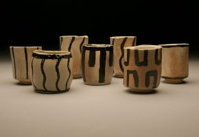 Soda Fired Hand built cups by KCJoker33