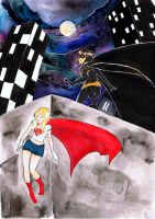 BatLondon and SuperMaddie by SonicPossible00