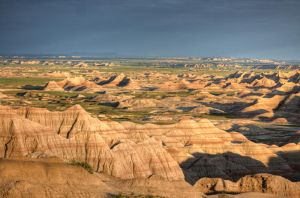 Badlands National Park - HDR Panorama by aeroartist