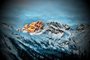 Sunset at Rogers Pass, BC 2 by skip2000
