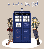 The Twins and the Blue Box by kidann