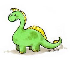 Blond Dinosaur by Cofie