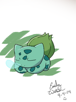 .:Pokemon Challenge:. #001 Bulbasaur by AmyKittenFox