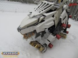 Liger Zero Plays in Snow by RiaStrifeChan