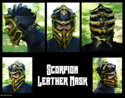 MK Scorpion Leather Mask by Epic-Leather