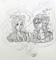Draw gift to contortedcosplay and her lover by ryuu-samazx