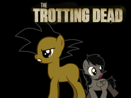 Alex and Sakura in the Trotting dead by BlakeandAlex12