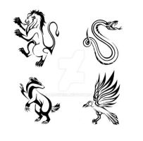 Hogwarts Tribal Houses by ShadowKira