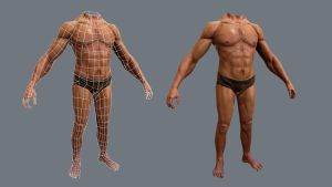 Real Time Male Body by kabirtalib