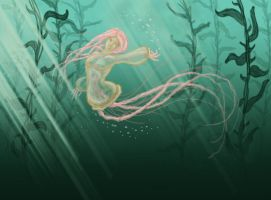 Jellyfish mermaid by Aldriona