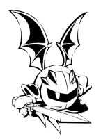Metaknight Stencil Picture by Sirometa