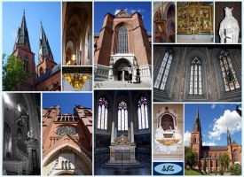 Uppsala Cathedral Collage by BrakeHeart