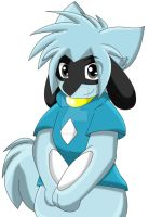 Kiarra the Riolu Front View by Zander-The-Artist