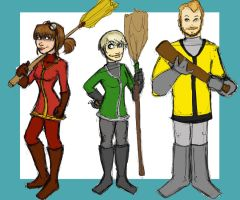 The Family Quidditch by pluckyantihero