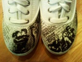 Green Day Shoes by The-Talking-Mime