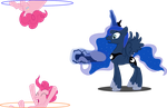 Luna and Pinkie Pie Play with Portals by Tattooclown