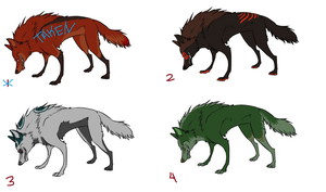 Wolf Designs For Sale by lazy-procrastinator