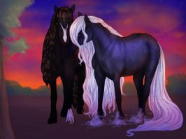 Evening Lovers by Cariannarz