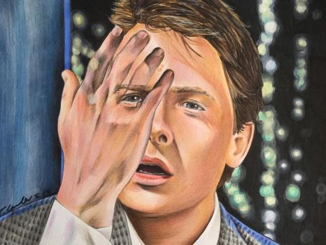 Marty McFly Back to the Future Michael j Fox by billyboyuk