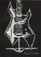 Scratch Board Guitar by Another-Dead-Hero