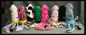 A School of Squid by StuffItCreations