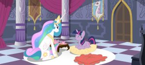 Princess Celestia and Twilight Sparkle by Mister-Saugrenu